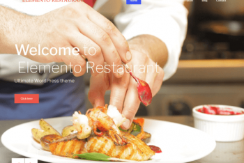 Elemento Restaurant – Gutenberg Compatible WordPress Theme for Free