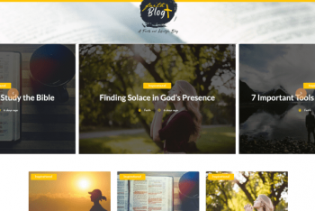 Faith Blog – Free WordPress Theme for Blogs