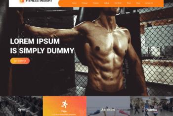 Fitness Insight – Free Fitness Website WordPress Theme