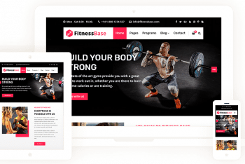 FitnessBase – Modern Fitness Website WordPress Theme for Free