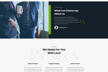Posterity –  Creative Agency Website WordPress Theme for Free