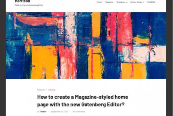 Harrison – Versatile WordPress Theme for Free