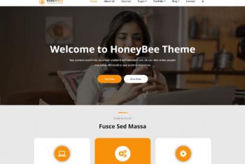 HoneyBee – Free Multipurpose WordPress Theme