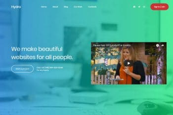 Hydro – Free Landing Page HTML Template