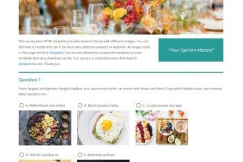 Image Survey – A Survey Form HTML Template for Free