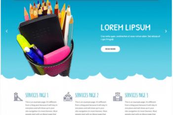 Kids Campus Lite – A Free Kindergarten Website WordPress Theme