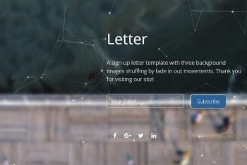Letter- Sign-up Form HTML Template for Free