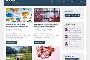 Occasio – Free Blogging & Magazine WordPress Theme