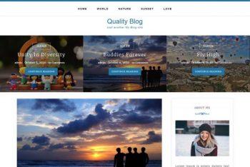 Quality Blog – Free Responsive WordPress Theme