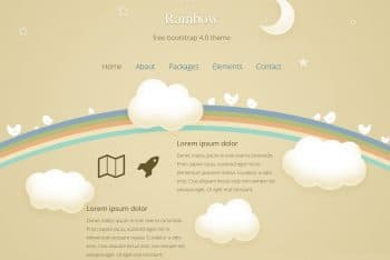 Rainbow – A Free Bootstrap HTML Template