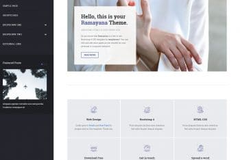 Ramayana – A Free Bootstrap HTML Template