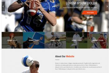 Sports Club Lite – Free Sports Website WordPress Theme