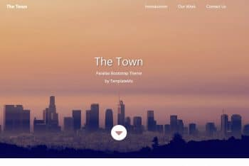 The Town – Free Bootstrap HTML Template