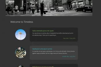Timeless- Free HTML Website Template