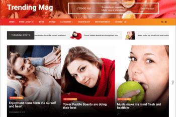 Trending Mag – Free Magazine WordPress Theme