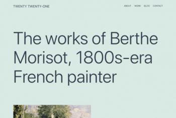 Twenty Twenty-One – A Free Simple & Elegant WordPress Theme