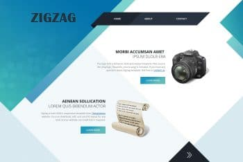 Zigzag – A Free Simple HTML Template