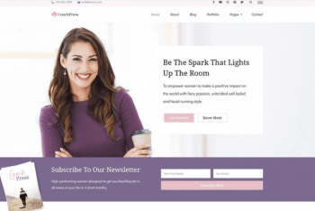 CoachPress Lite – Free Coaching Website WordPress Theme