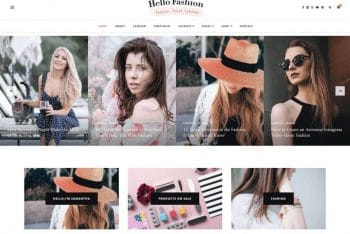 Hello Fashion – Free Fashion Website WordPress Theme