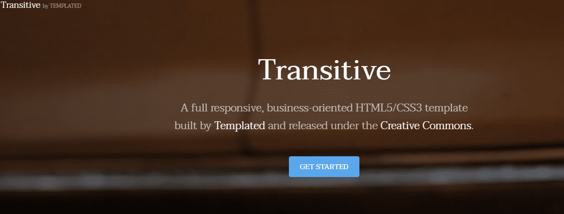 Transitive - business-oriented HTML template