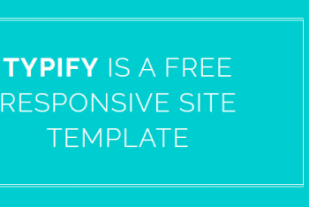 Typify – One Page HTML Template Free Download