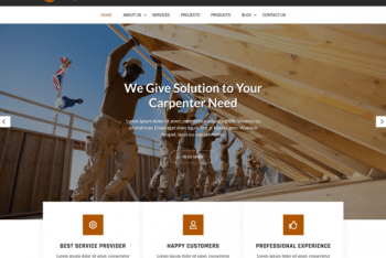 Woodwork Lite – Wood Construction Website WordPress Theme