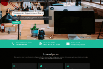 Appointment Dark – A Fully Responsive WordPress Theme