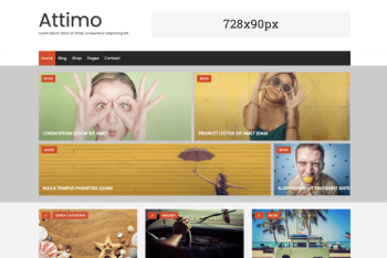 Attimo – A Free Creative Minimal WordPress Theme