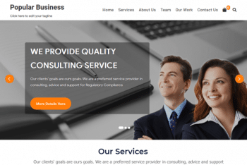 Biz News – A Free Multipurpose WordPress Theme
