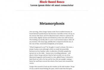 Block-Based Bosco – A Free WordPress Theme