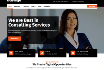 Busiage – Free Business Website WordPress Theme
