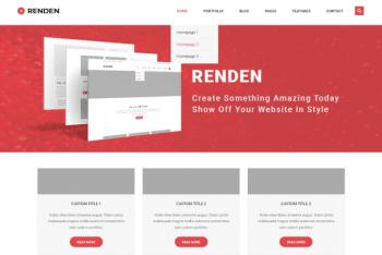 Renden Grid – Free Business & Blog Website WordPress Theme