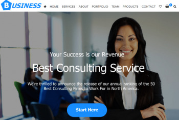 Business Consulting – Free Business Website WordPress Theme