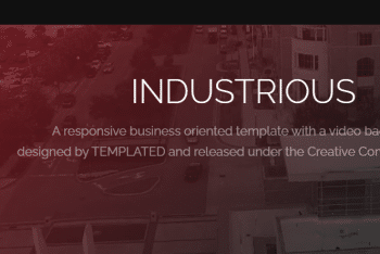 Industrious – Business Oriented HTML Template