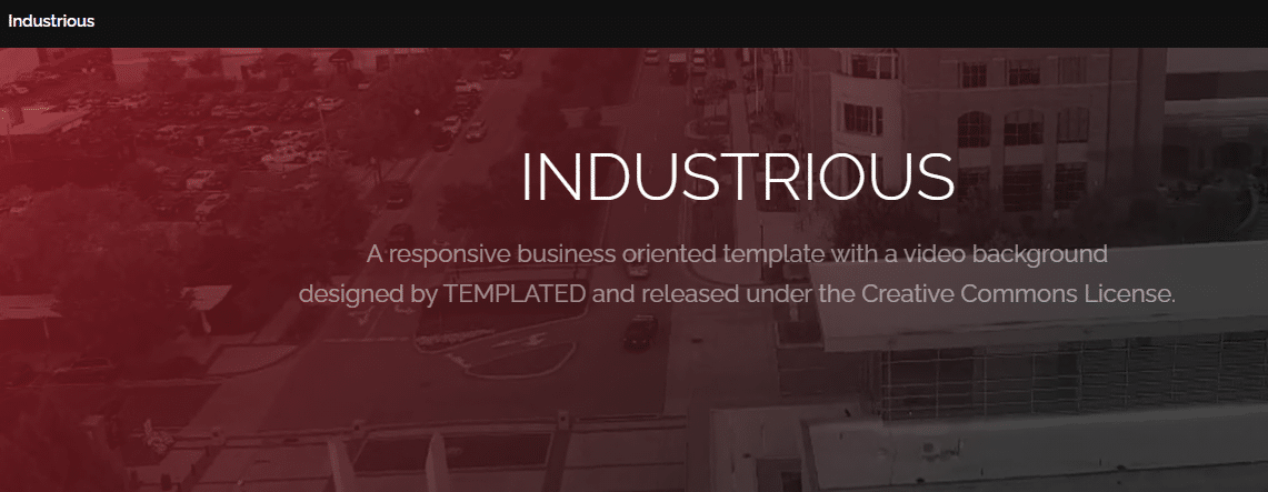Industrious - business oriented HTML template
