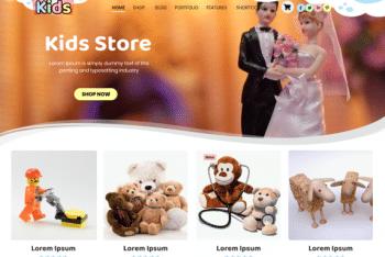 Kids Online Store – Children Website WordPress Theme for Free