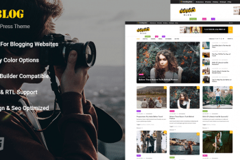 Color Blog – WordPress Blog Theme for Free