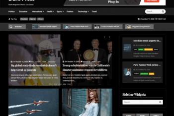 Dark Press – Free Magazine WordPress Theme