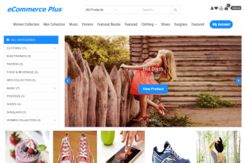 eCommerce Plus – Fully Responsive Ecommerce Website WordPress Theme