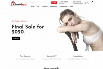 Store Hub – Free Fashion Ecommerce Website WordPress Theme