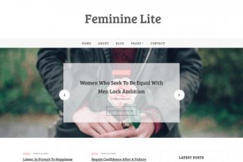 Feminine Lite – Free WordPress Theme
