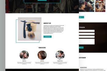 Cutzone – Free Barber Website HTML Template