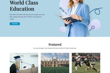 Signify Education – A Free Education Website WordPress Theme