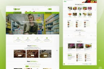 Grocery Store – Free Ecommerce Website WordPress Theme