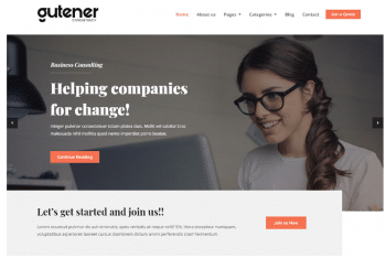 Gutener Consultancy – A Free Gutenberg-ready WordPress Theme