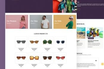 Gzael – Eyewear Website HTML Template for Free