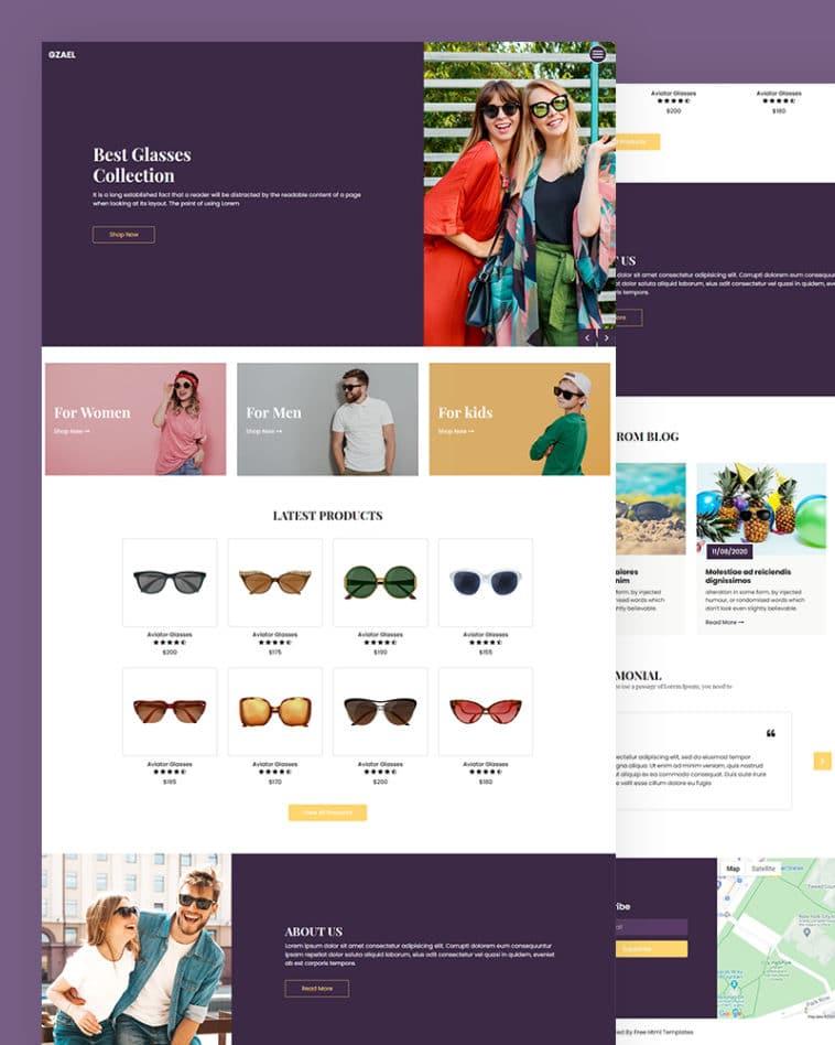 free-eyewear-website-html-template