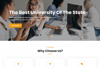 JetBlack Education – Free Education Website WordPress Theme