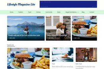Lifestyle Magazine Lite – Free WordPress Theme for News, Blog & Magazine Websites