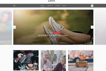 Lili Blog – Minimal WordPress Blog Theme for Free